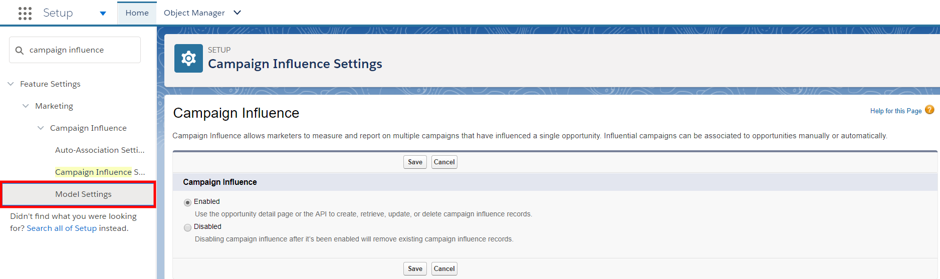 Campaign Influence Setup 3