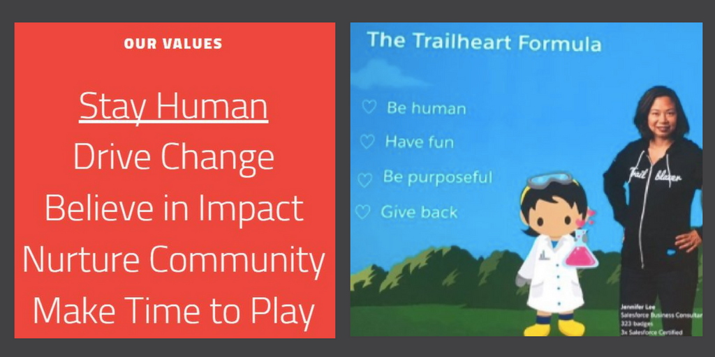 Trailheart vs Idealist Consulting values